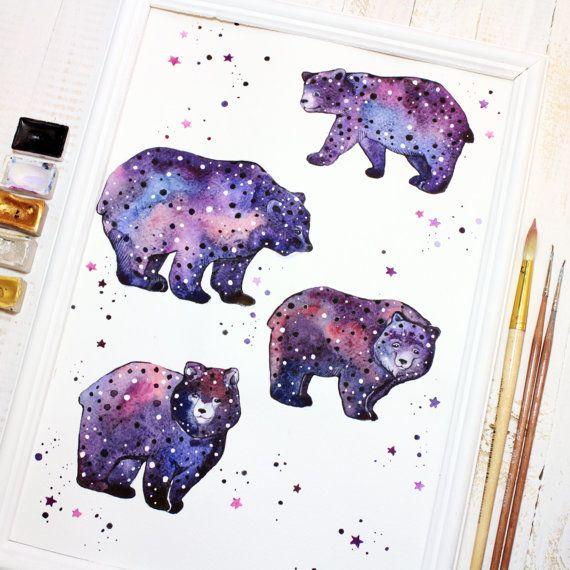 Art Print Nursery Bear Art Print Animal Bear Art от LullabyForFox