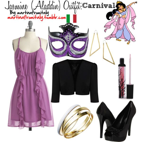 Jasmine (Aladdin) Carnival Outfit, created by martinafromitaly on Polyvore