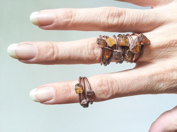 Raw amber ring Untreated baltic amber jewelry by HAWKHOUSE
