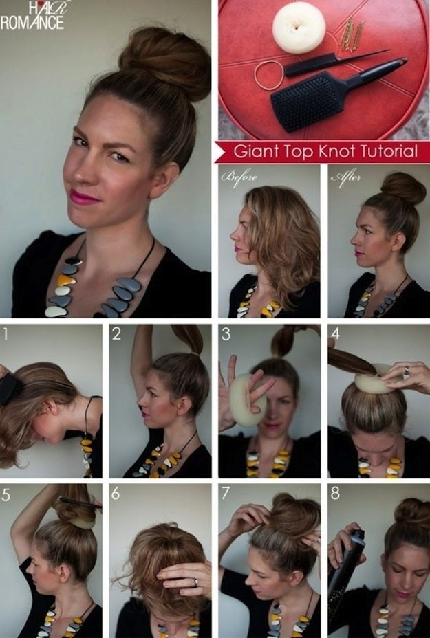 This gigantic topknot is so elegant and easy to do. | 17 Ways To Never Have A Bad Hair Day Again