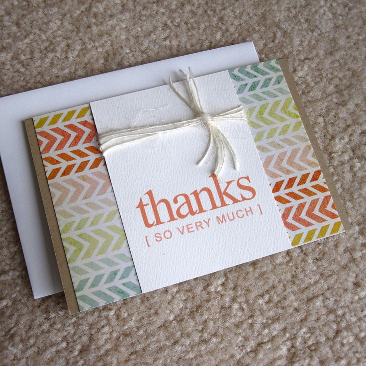 Best Crafts ThankYou Notes Images On   Card Ideas