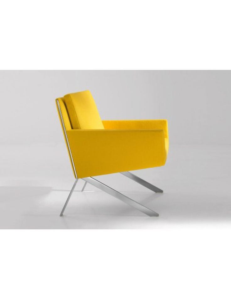 B&B Italia Theo  Ontwerp: Vindcent van Duysen (2012) •Frame RVS buizenframe •Compacte fauteuil