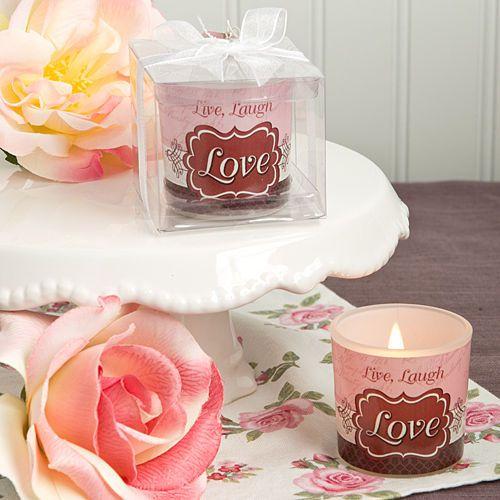 75 Love Candle Live Laugh Bridal Shower Wedding Favor Party Event Bulk Lot Fashioncraft