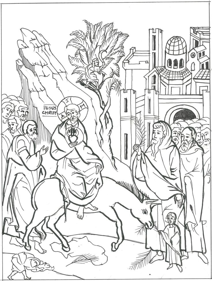 Palm-Sunday.jpg (2040×2710) | Palm sunday, Coloring pages ...