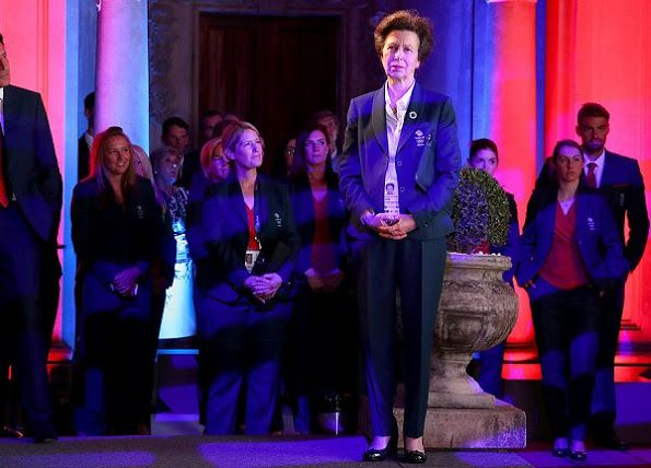 British Princess Anne and Sebastian Coe attend the Team GB British House Reception ahead of the Rio de Janeiro 2016 Summer Olympic Games on August 3, 2016 in Rio de Janeiro, Brazil.