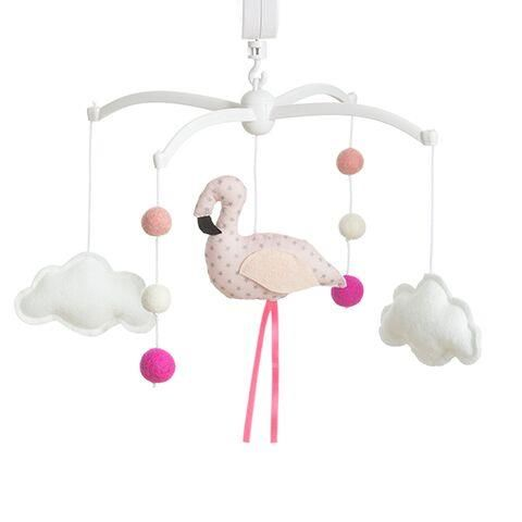 Musical mobile Pouce & Lina - Flamingo Soft Pink