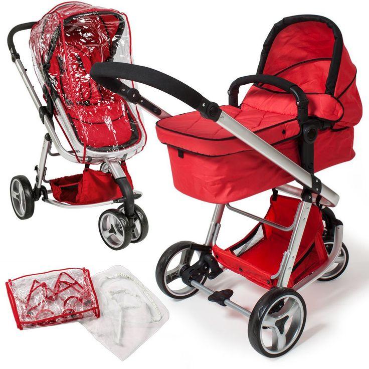 TecTake 3 en 1 Sillas de paseo coches carritos para bebes convertible rojo: Amazon.es: Bebé