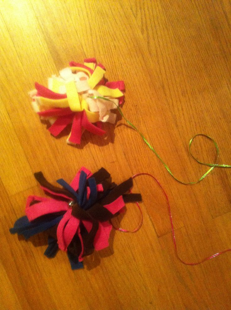 how to make cat toys out of fleece