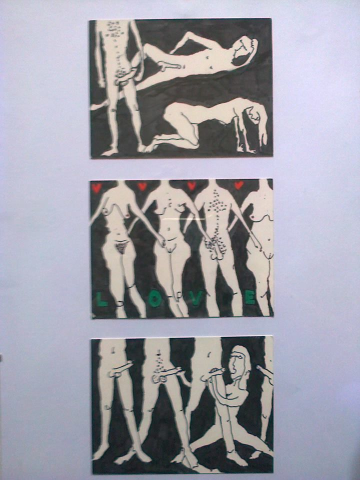 erotic cards that are made in unique drawing style...were presented on a sex exhibition in Maribor in 2012 #eroticart #naughtycards #nudes