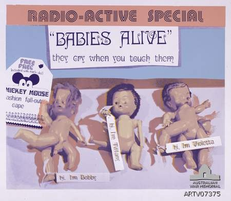 """Ann NEWMARCH, """"Babies Alive"""" (1977) Collection of the Australian War Memorial"""