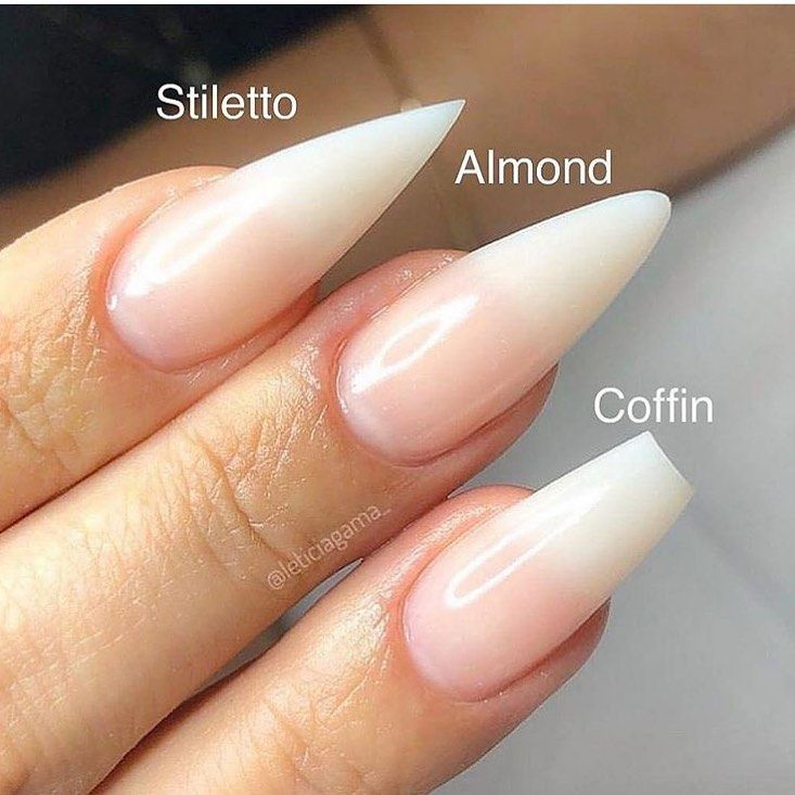Almond Stiletto Or Coffin Nails Almond Shape Nails Nail Shapes Powder Nails