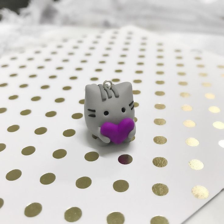 Pusheen Polymer Clay Charm @thislilcharmer
