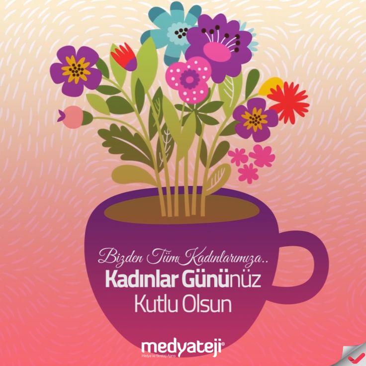 Hayatın renkleri olan tüm kadınların, Kadınlar Günü'nü kutlarız.  @Medyateji #kadınlargünü #kadınçiçektir #8march