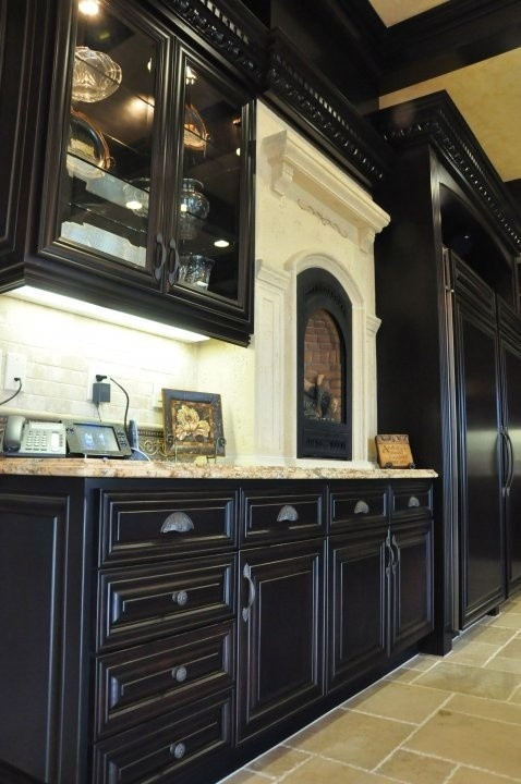 Kitchen Kitchens, White Kitchen, Dark Cabinets, Dream Homes, Black