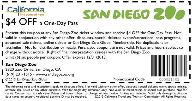 $4 off San Diego Zoo tickets