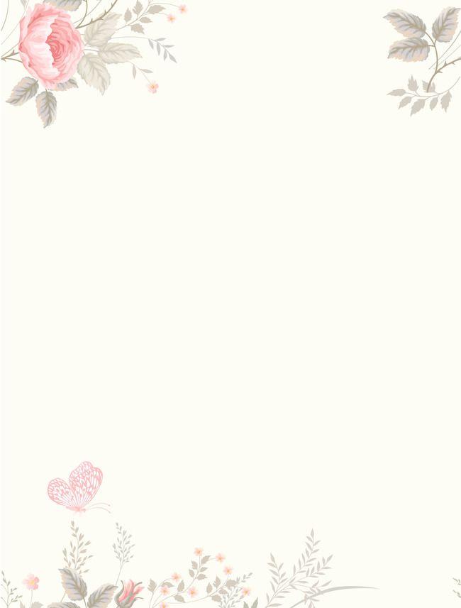 Vector Watercolor Flowers Fresh Literary Background Dengan Gambar