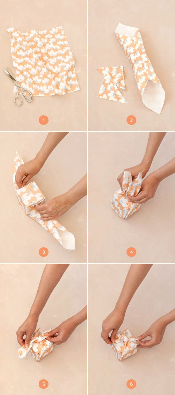 knotted fabric-wrapped favor boxes