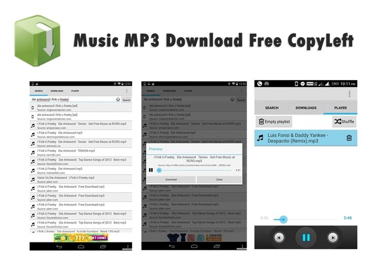 Get Music MP3 Download Free CopyLeft an amazing mp3 music - free resume downloader