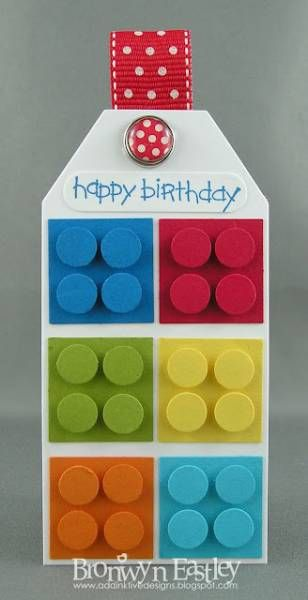 Lego Tag by BronJ - Cards and Paper Crafts at Splitcoaststampers