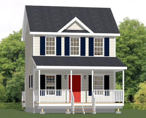 20x16 Tiny House 584 Sq Ft PDF Floor Plan Model