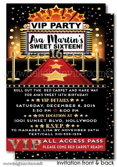 The 25+ best Hollywood invitations ideas on Pinterest Hollywood - party ticket invitations
