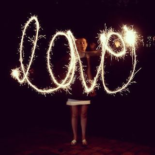 Photography idea- How to Photograph Writing With Sparklers