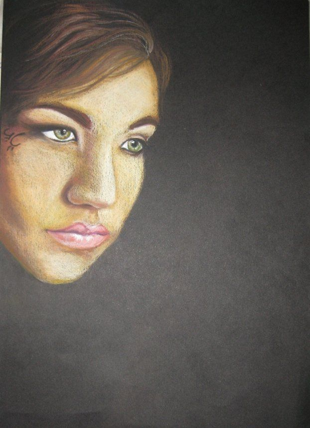 Self portrait half way there by Jessica Storme