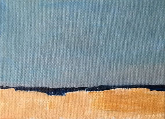 Minimalist Seascape abstract seascape by modernimpressionist