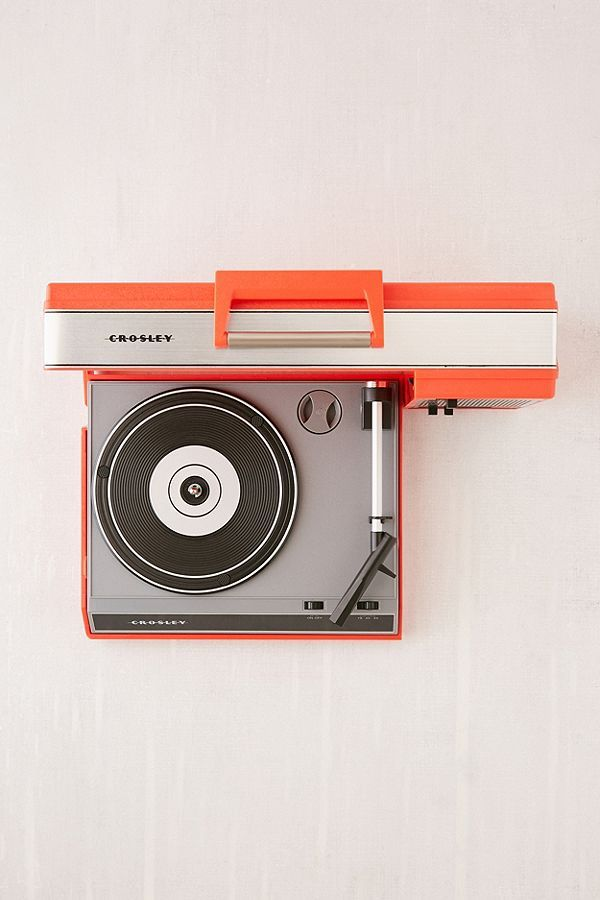 Slide View: 3: Crosley Spinnerette Portable Record Player