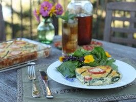 Taylor's Nettle Frittata with Wild Spring Salad and Citrus Herb ...
