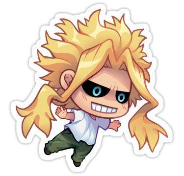 All Might Sticker By Jostarjo In 2021 My Hero Academia Chibi Anime Chibi