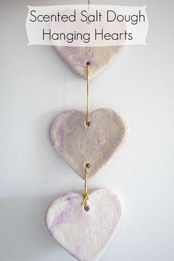 Lavender Salt Dough Heart Hanging Decoration to Make with Kids