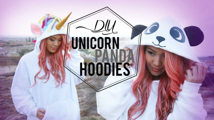 DIY Unicorn & Panda Costume/Cosplay Hoodies   Halloween   ANNEORSHINE