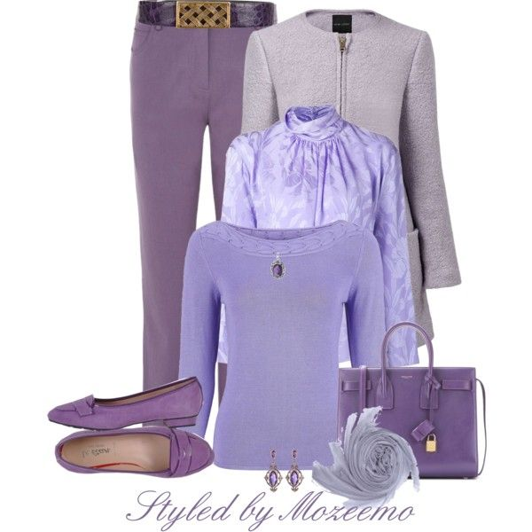 Lilac & Lavender Jeans Outfit