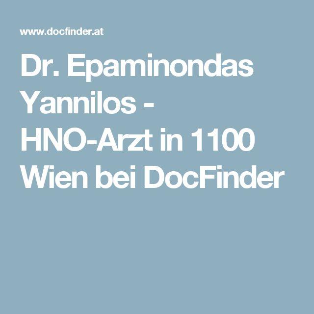 Dr. Epaminondas Yannilos - HNO-Arzt in 1100 Wien bei DocFinder