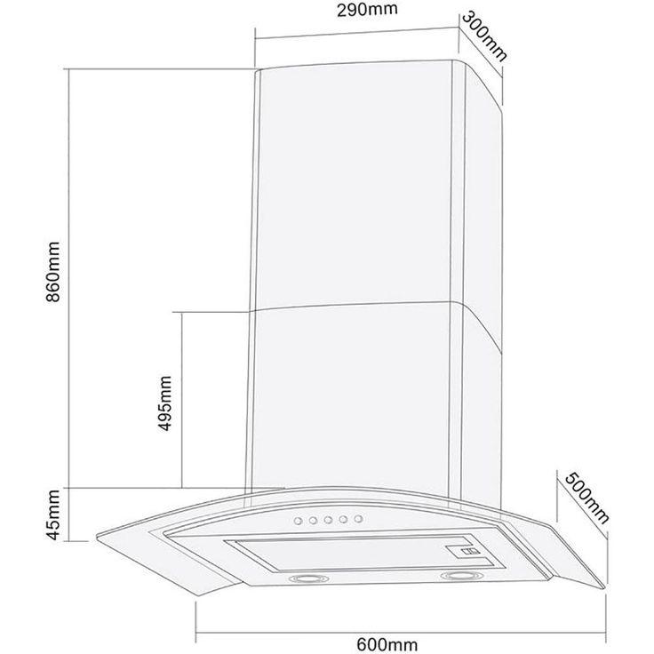 Coifa de Parede Vidro 60cm para até 4 Bocas Gourmet CFA 360 Inox - Cadence - 220V - Eletrodomésticos - Coifas - Walmart.com