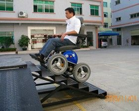 Cool wheelchair...no more limitations on where you could go!