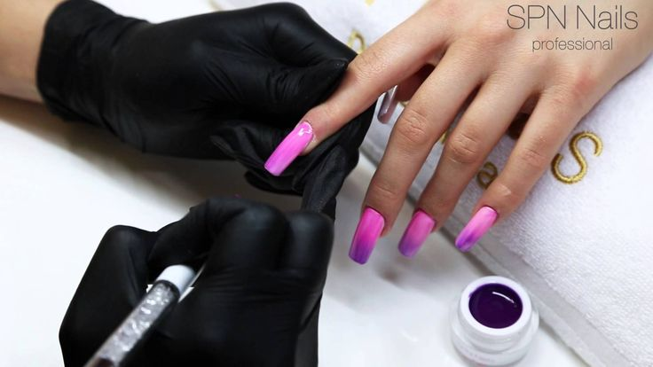 Żel termoaktywny Ombre Gel Violet vs Pink  #spnnails #nails #paznokcie #ombre