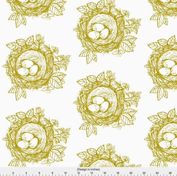 1 yard (or 1 fat quarter) of Sketched_bird_nest-gold by designer jennifer_rizzo. Printed on Organic Cotton Knit, Linen Cotton Canvas, Organic Cotton Sateen, Kona Cotton, Basic Cotton Ultra, Cotton Poplin, Minky, Fleece, or Satin fabric.  Available in yards and quarter yards (fat quarter). This fabric is digitally printed on demand as orders are placed. Unlike conventional textile manufacturing, very little waste of fabric, ink, water or electricity is used. We print using eco-friendly…
