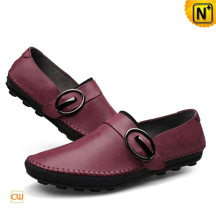 Designer Driving Moccasins for Men CW740378 Designer Lagerfeld's leather driving moccasin loafers for men made from 100% genuine full grain cow leather upper, designed with buckle decoration, soft pebble rubber sole provides best wearing experience to you!