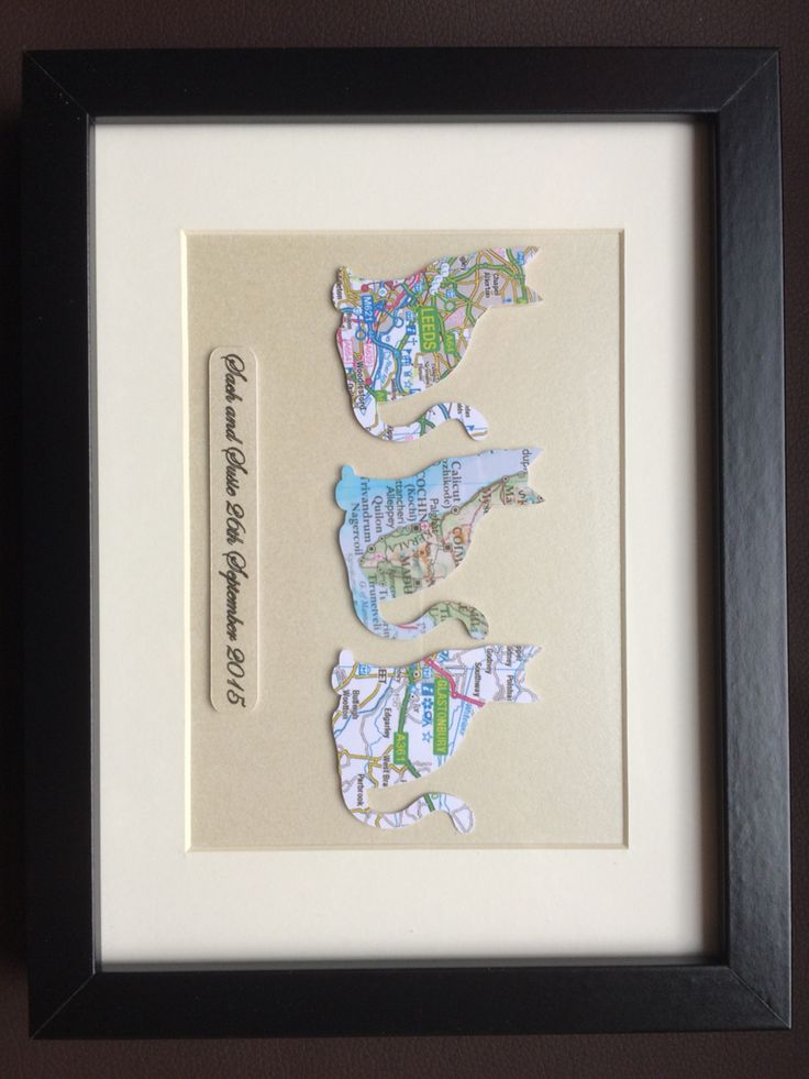 Choose your maps, shapes and personal inscription. Www.mapmyworld.co.uk Perfect cat gift