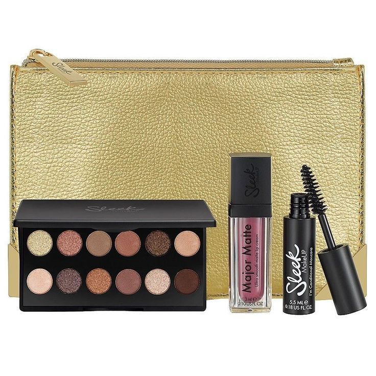 Sleek MakeUP Essentially Sleek makeup gift set Gift set contains: i-Divine Eyeshadow Palette A New Day I'm Conditional Mascara Matt Me Lip Cream Shabby Chic Cosmetic Purse Create an on point look for stepping out, with Sleek's slay-ers. With our Eyeshadow Palette, I'm Conditional Mascara & Major Matte in our UK's bestselling shades (and a stunner of a purse to stash it all in) | eBay!
