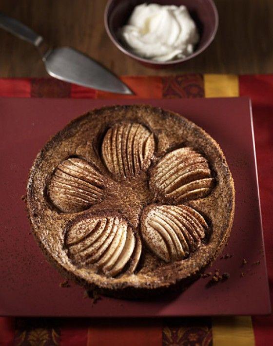 Die perfekte Mischung aus Frucht und Schokolade: Birnen-Schoko-Tarte.