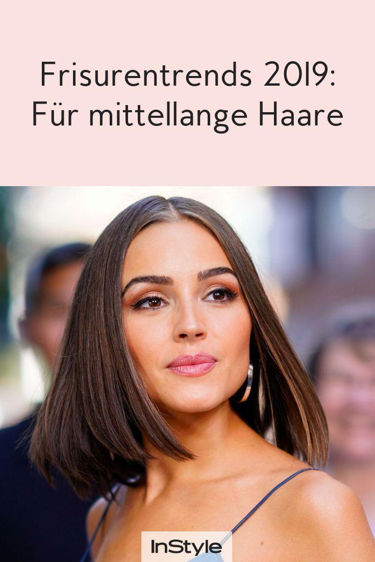 Das sind die Frisuren-Trends 2019 für mittellange Haare - #das #die #FrisurenTr...