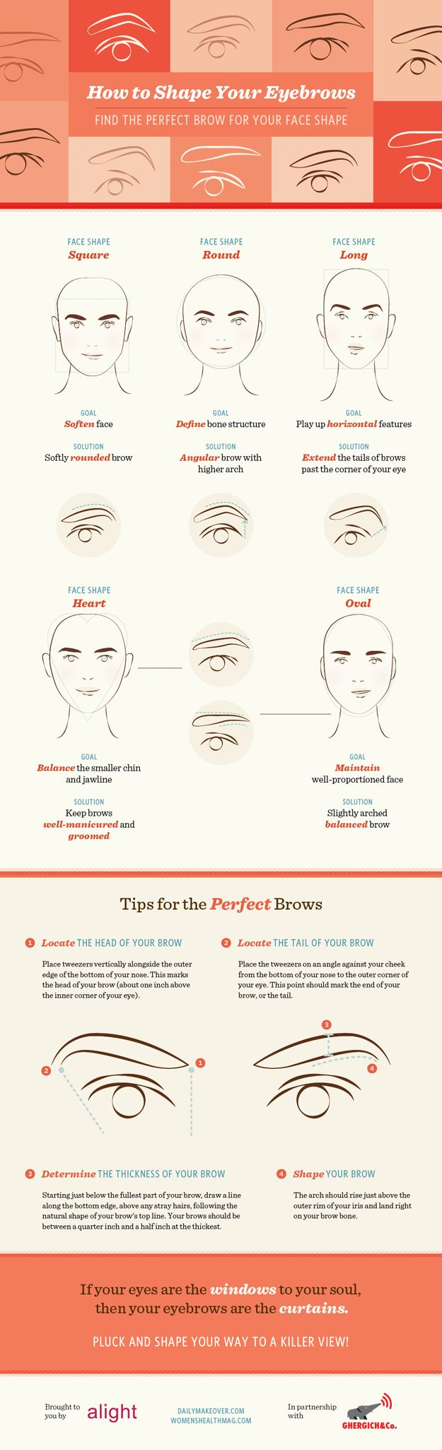 Eye Liner Guide: 9 Simple Steps to Perfect Makeup viaVisual.ly Best Blushes for Your Skin Type via Makeup Blushing Basics via The Glitter Guide Best Brows for Your Face Shape viaYour Beauty Blog