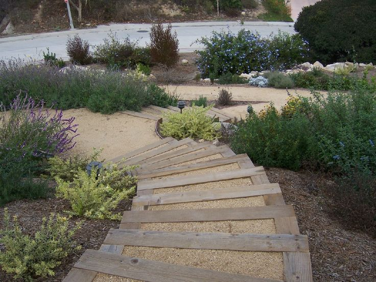 38 best images about hill landscaping on pinterest for Landscaping front steps