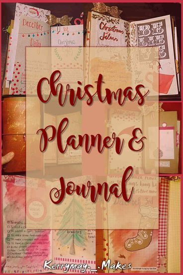 CHRISTMAS PLANNER & JOURNAL PEEK - Take a tour of my December Daily / Christmas Planner in my ,Travelers Notebook TN  complete with a video flip through - Kerrymay._.Makes