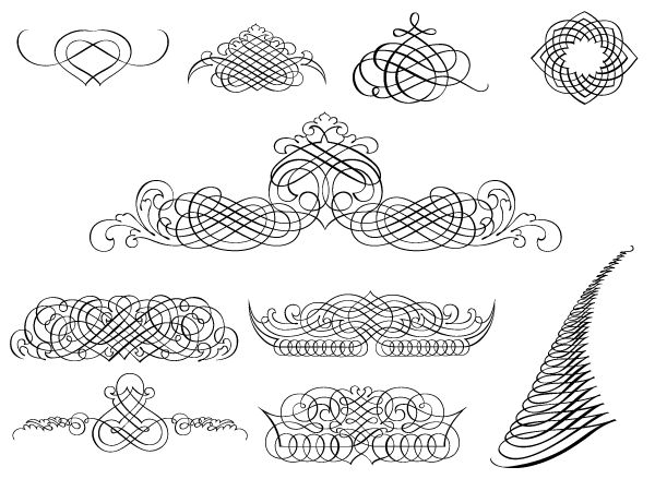 Free Calligraphy Vector Round Up | *Free ♥ Pretty ♥ Things ♥ For ♥ You*