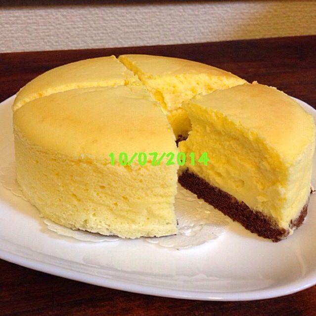 下にココアスポンジです(≧∇≦) - 29件のもぐもぐ - スフレチーズケーキ by tomo1106