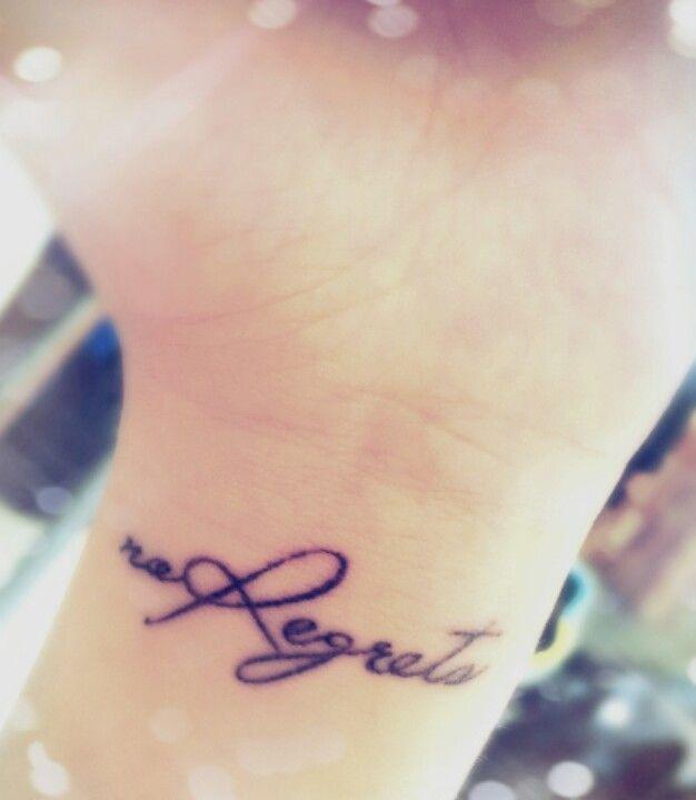 No Regrets. #Tattoo #noregrets